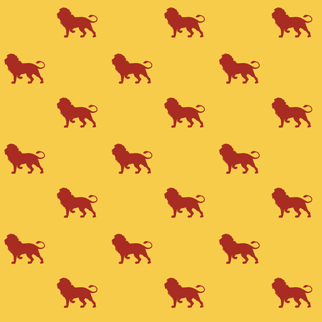 lion house - yellow - potter's world fabric by stofftoy on Spoonflower - custom fabric
