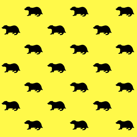 badger house - yellow - potter's world fabric by stofftoy on Spoonflower - custom fabric