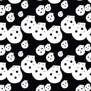 Dots Black and White Upholstery Fabric