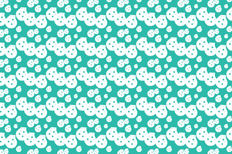 Dots Teal Green Upholstery Fabric fabric by llukks on Spoonflower - custom fabric