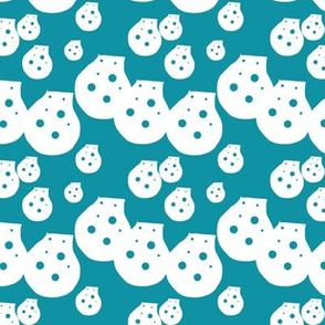 Dots Teal Green Upholstery Fabric
