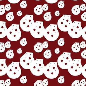 Dots Clay Red Upholstery Fabric