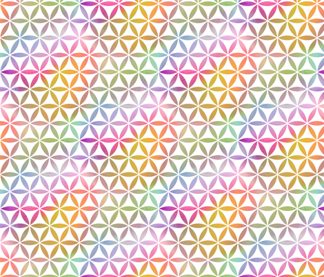 Rainbow Flowers and Circles fabric by emmaallardsmith on Spoonflower - custom fabric