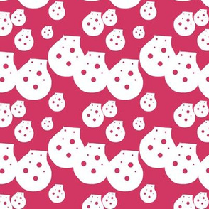 Dots Fuchsia Upholstery Fabric