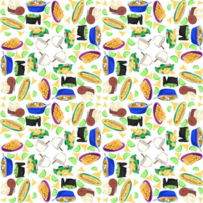 Mexican Food (on white background)