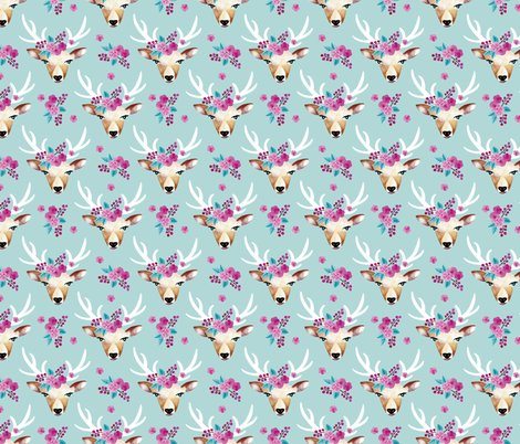 Rlittle_smilemakers_studio_-_boho_flower_deer_-_blue_visual_copy_shop_preview