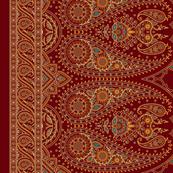 "Double-Edged Red Sari Saree 37"""