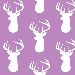 Wisteria + White Deer Buck Silhouette – Woodland Baby Girl Nursery Bedding