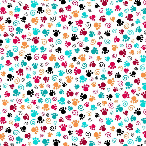 Love Those Paws White fabric by phyllisdobbs on Spoonflower - custom fabric