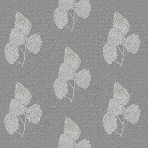 Ghost Leaves on Silver Gray