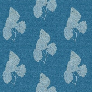 Ghost Leaves on Teal
