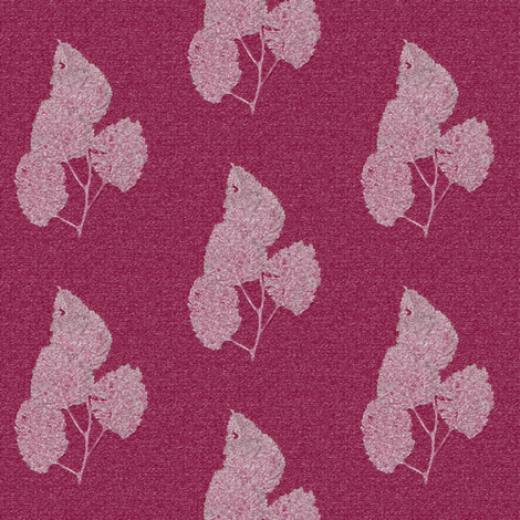 Ghost Leaves on Cranberry fabric by anniedeb on Spoonflower - custom fabric