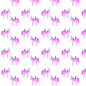 electric pink unicorns // small