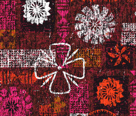Aloha Flowers 21b fabric by muhlenkott on Spoonflower - custom fabric