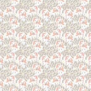 """1.5"""" Pink Floral Unicorn Garden"""