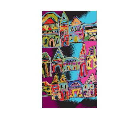 Rainbow City  fabric by dreamalittleart on Spoonflower - custom fabric