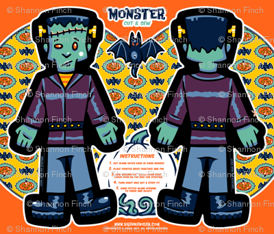 Halloween Hoopla - Monster - Cut & Sew