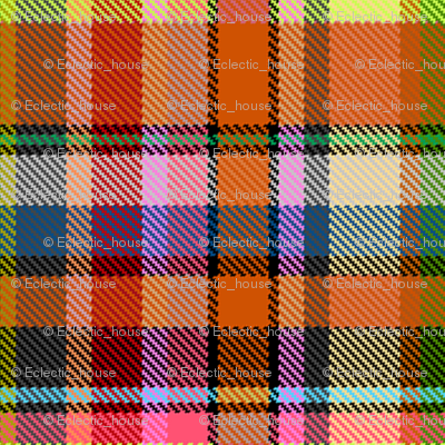 Custom Mostly Orange Madras Plaid Straight Set