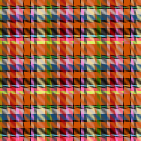 Custom Mostly Orange Madras Plaid Straight Set fabric by eclectic_house on Spoonflower - custom fabric