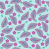 Rfloral_damask_hip_leaves_turquoise_magenta_shop_thumb