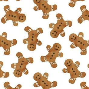 gingerbread man cookie toss - white