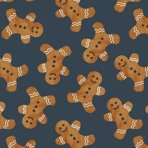 gingerbread man cookie toss - dark blue