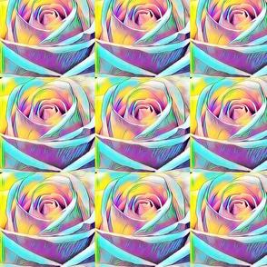Wall of Rainbow Roses