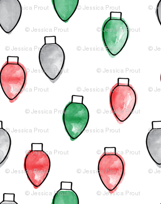 christmas lights - red, green, grey