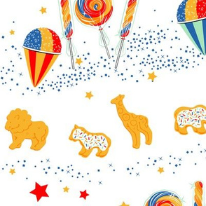Circus Treat Parade in Red White & Blue