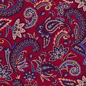 Nomad Paisley - Red