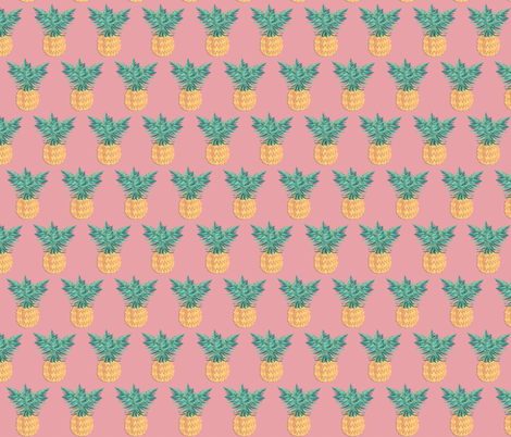 Pink Pineapple  fabric by arrpdesign on Spoonflower - custom fabric