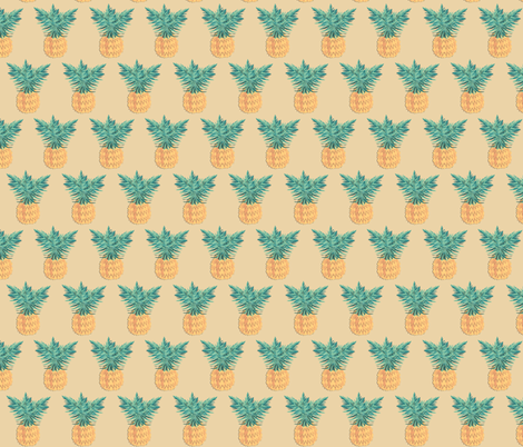 Sand Pineapple  fabric by arrpdesign on Spoonflower - custom fabric