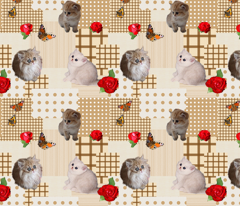 Kitten_Patchwork fabric by lausche-design on Spoonflower - custom fabric