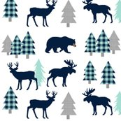 Rbear-moose-deer-navy-mint_trees1216x3000-white_shop_thumb