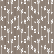 Arrow Run // Blue Ridge Collection - Putty (small scale) brown earth tones boys room