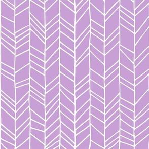 Lilac Crazy Chevron Herringbone Hand Drawn Geometric Pattern GingerLous