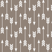 Arrow Run // Blue Ridge Collection - Putty (medium scale) brown earth tones boys room