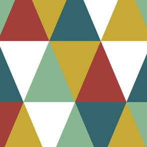 Cheater quilt primary color triangles