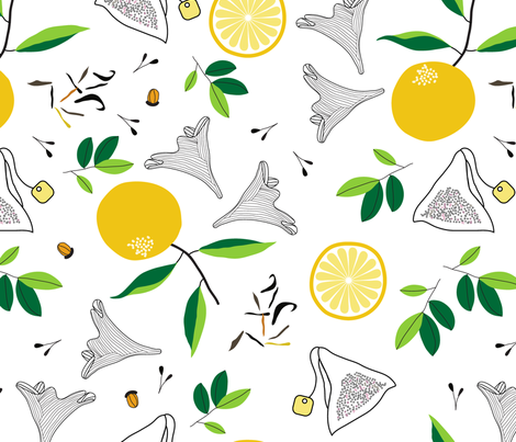 lady gray lemon fabric by nanamira on Spoonflower - custom fabric