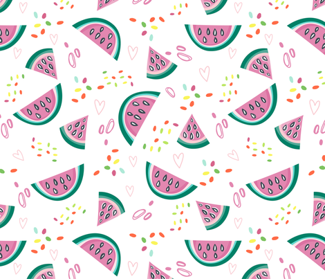 Watermelon twist fabric by marushabelle on Spoonflower - custom fabric