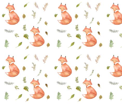 Woodland Fall Fox fabric by hipkiddesigns on Spoonflower - custom fabric