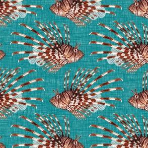 Lionfish - turquoise