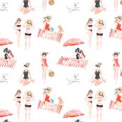 Beach Girls 10.5in x 10.5in