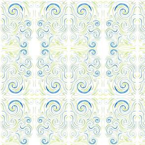 Blue/Green Swirl