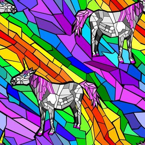 unicorn stained glass window