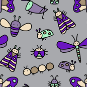 Insect Pattern - Purple
