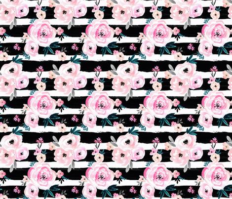 Sunset_Rose_Stripe_medium fabric by crystal_walen on Spoonflower - custom fabric