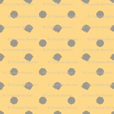 Miss Muffet's Polkadots Yellow