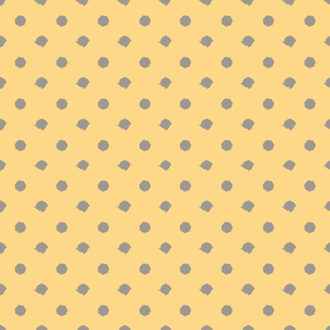 Miss Muffet's Polkadots Yellow fabric by engravogirl on Spoonflower - custom fabric