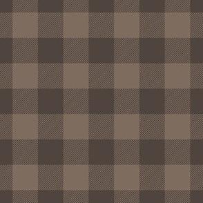 "1"" Dark Brown Plaid"